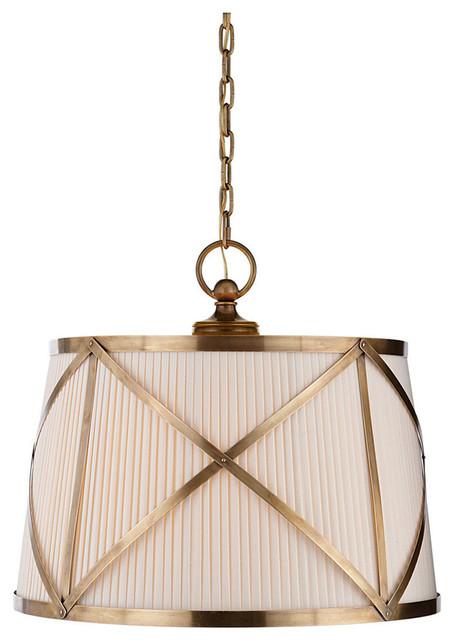 Visual Comfort Lighting E.f. Chapman Grosvenor 3 Light Hanging Shade.