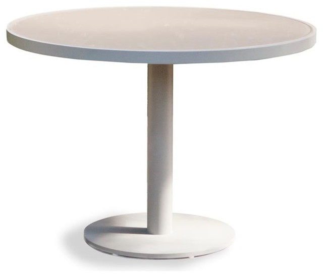 Modern Round Pedestal Dining Table pier round pedestal dining table - modern - outdoor dining tables