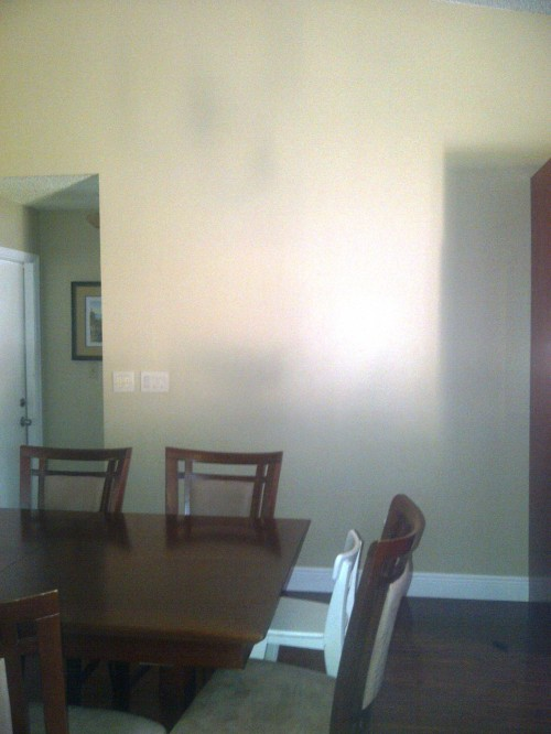 Dining Room Furniture Wall And Light Fixture
