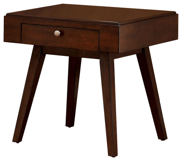 Nairne Transitional End Table Midcentury Side Tables And End Tables