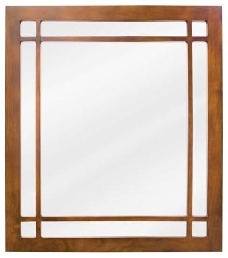 """Jeffrey Alexander Mirror 21""""x1""""x24"""" Chestnut."""