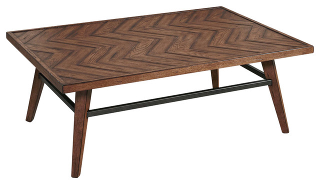 Nice Hammary Boardwalk Cocktail Table, Distressed Medium Brown Industrial Coffee  Tables