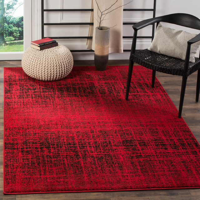 Cameron Area Rug, Red/black, 5&x27;1x7&x27;6.