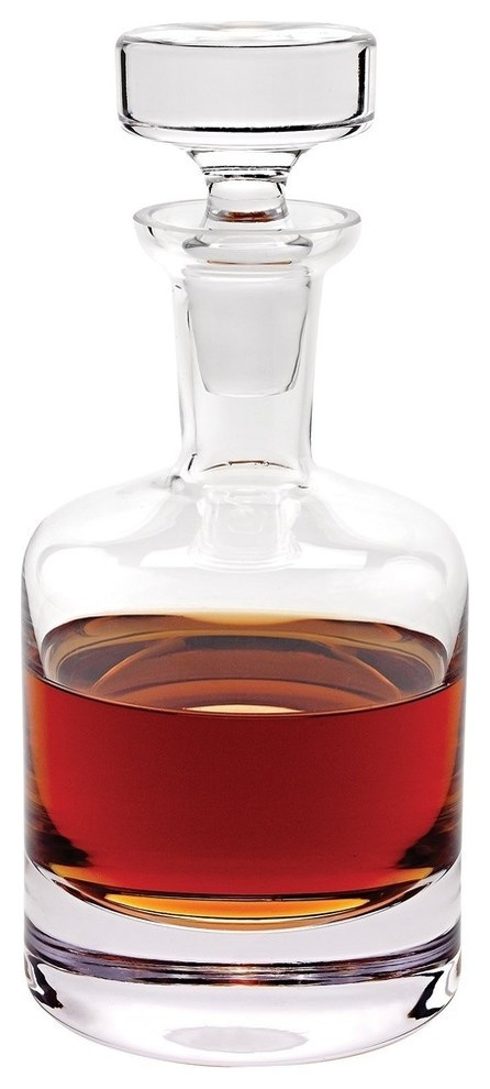 D Como Whisky Scotch Decanter 28 Oz Premium Quality Crystal Glass Contemporary Decanters By Gifts Plaza