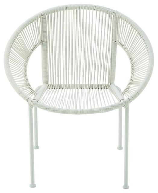 Durable Metal Plastic Rattan Chair.