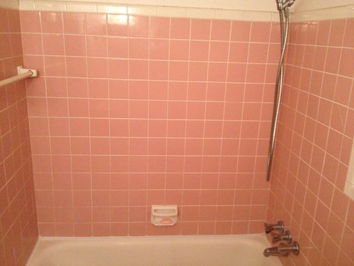 Vintage pink green bathroomswhat to do