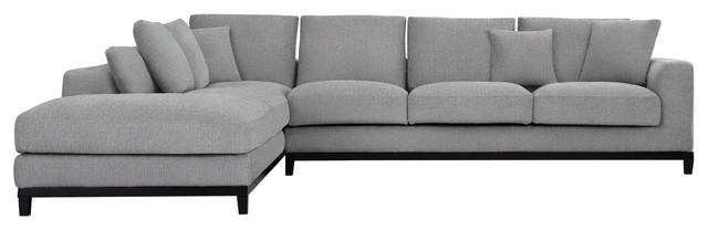 Kellan Sectional Sofa, Left Chaise, Light Gray