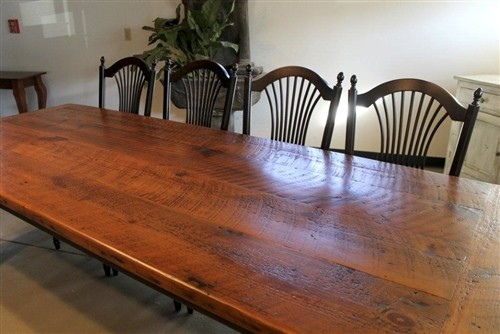 Awesome Very Rustic Farmhouse Dining Table Farmhouse Boston By