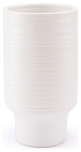 White Tall Vase