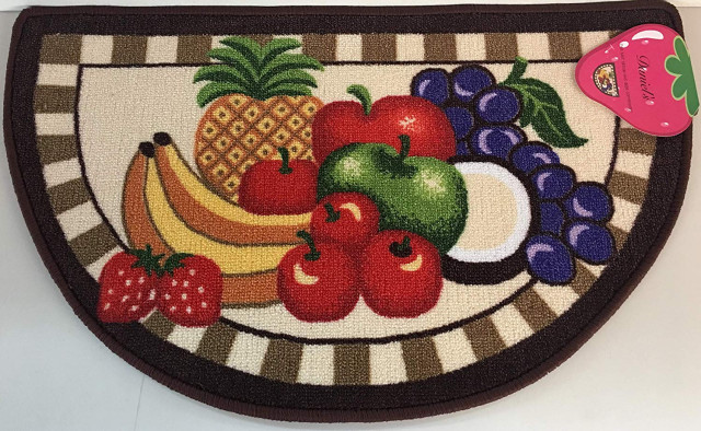 Daniels Mixed Fruit Kitchen Rug Non Skid Back Brown Traditional Kitchen Mats By Brown S Linens And Window Coverings Houzz