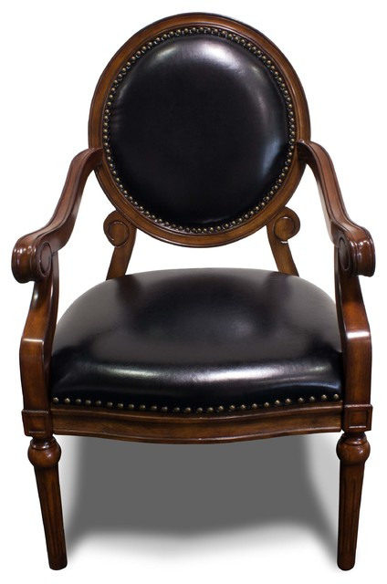 Formal Living Room Accent Arm Chair With Nailheads