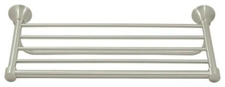 20 In. Solid Brass Hotel Bathroom Shelf, 88 Series, Chrome.