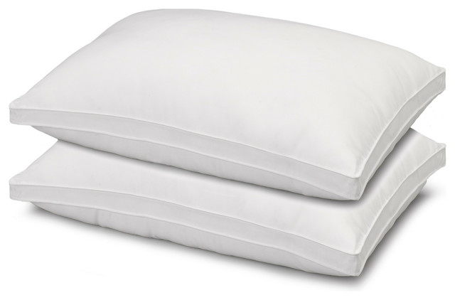 2-Pack Gusseted Microfiber Gel Filled Firm Side/Back Sleeper Pillows, Standard