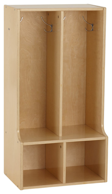 Birch Streamline 2 Section Toddler Coat Locker With Bench Transitional Toy Organizers By Virventures