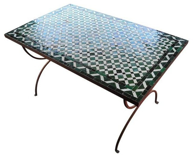 Fabulous Vintage Mosaic Tile Patio Table Modern Dining Tables