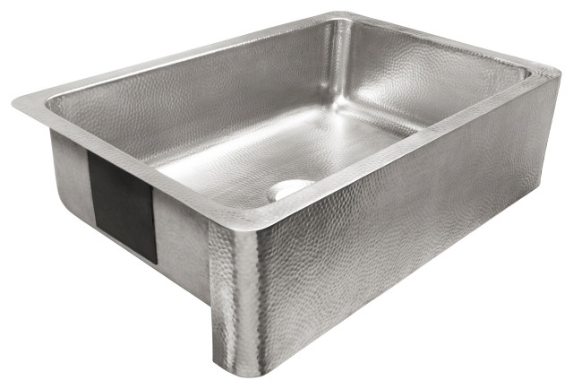 """Percy Farmhouse Apron-Front Stainless 32"""" Kitchen Sink, Brushed Stainless"""