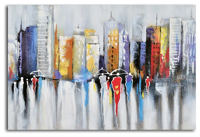 High Rise Low Reign Hand Painted Canvas Wall Art
