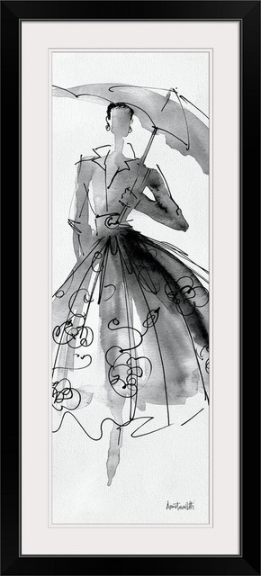 Fashion Sketchbook Vi Black Framed Art Print Contemporary Prints And Posters By Great Big Canvas