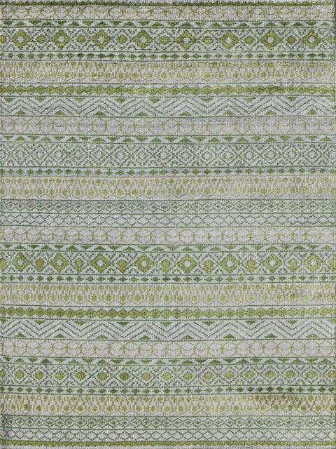 Feza Fez-7 Area Rug, Green, 9&x27;x12&x27;.