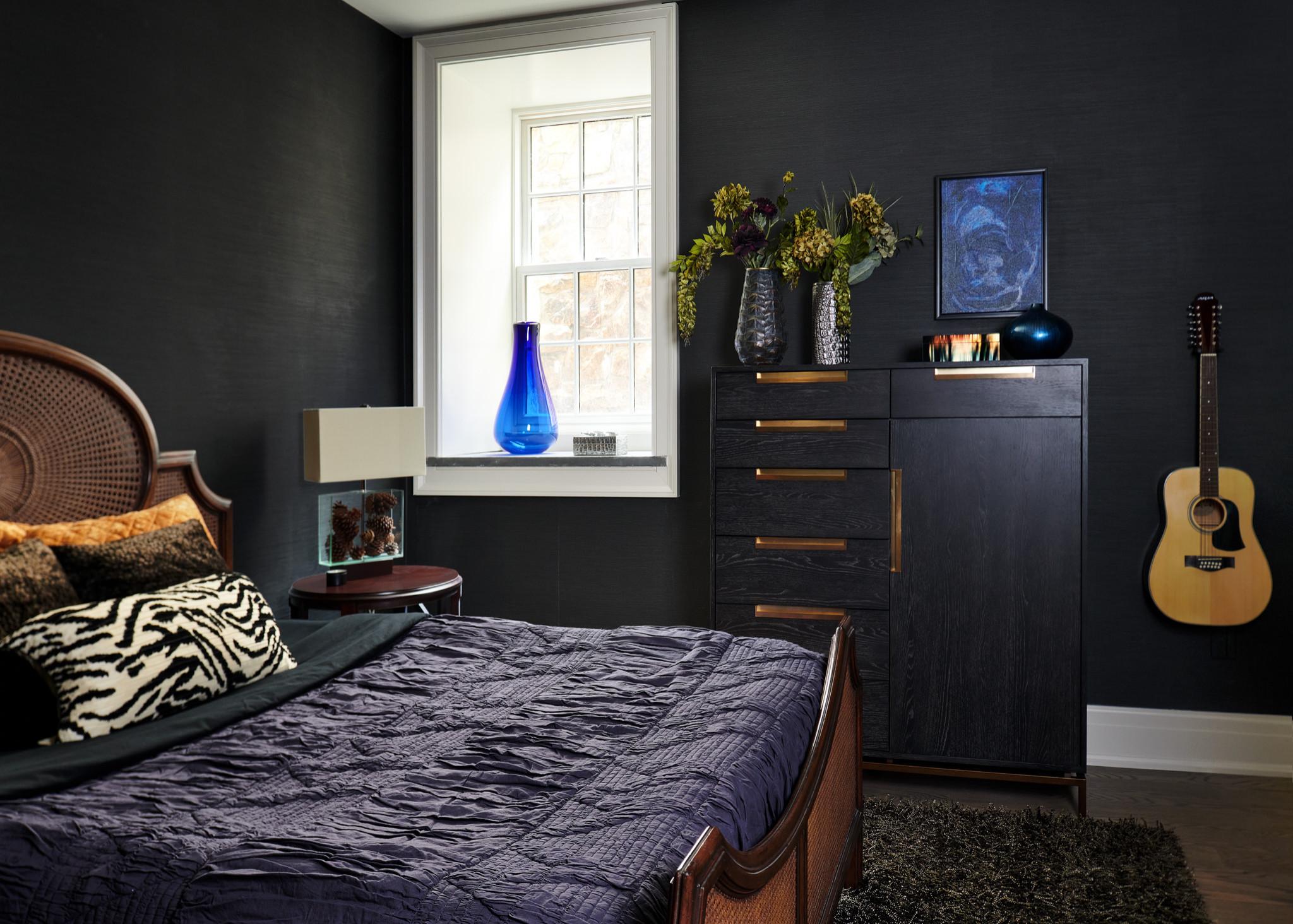 Moody Eclectic Bedroom