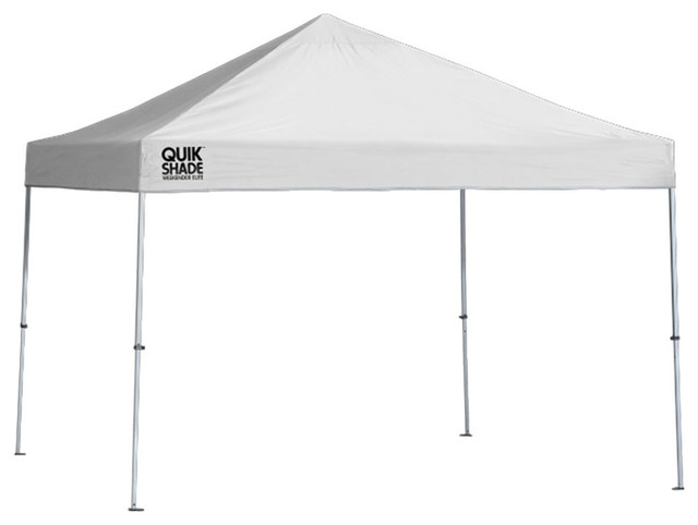 Quik Shade Weekender 10&x27;x10&x27; Straight Leg Canopy White Cover, White Frame.