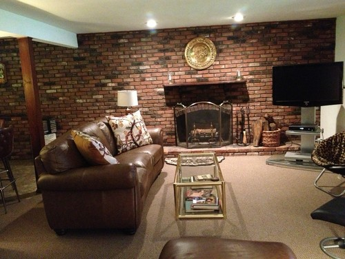Should I paint the brick wall in family room. Would it look more updated for resale? Thanks for any ideas.
