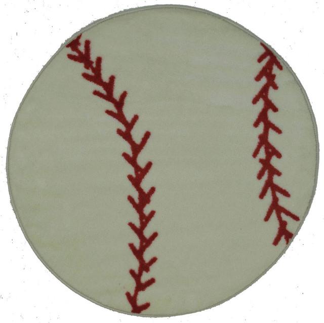 Baseball Rug, Multi-Color, 39.
