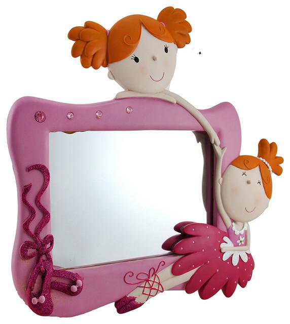 Pink Wall Mirror best friends pink twin ballerina decorative wall mirror