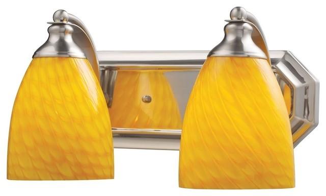Satin Nickel Ceiling Lights Bathroom Vanity Chandelier: Celina 2-Light Vanity, Satin Nickel