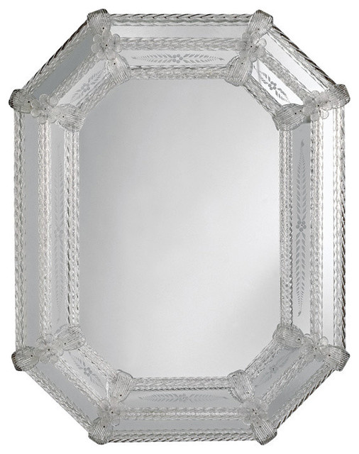 Octagonal Venetian Wall Mirror Traditional Wall Mirrors By Inviting Home Inc