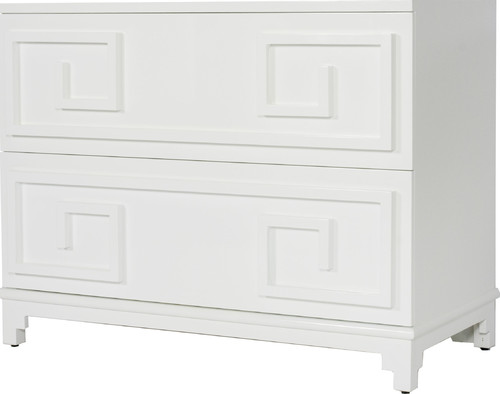 Wrenfield 2-Drawer Chest, Mirror, White
