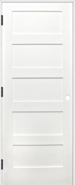 Interior prime pine 5 panel shaker reversible handing pre for 18x80 prehung door