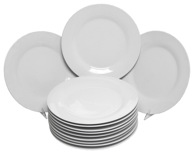 Catering Packs Round Dinner Plates Set of 12  : contemporary dinner plates from www.houzz.com size 640 x 510 jpeg 31kB