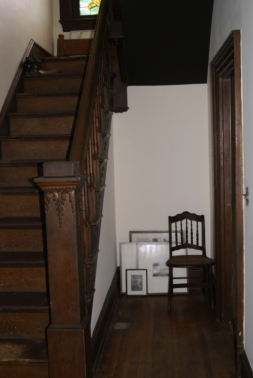 And Here Is My Staircase. Our Stair Case Has The Same Style Bottom Step  That Bumps Out Underneath The Newel Post.: