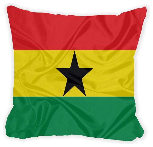 Throw Pillows Jysk : Rikki Knight LLC - Ghana Flag Microfiber Throw Pillow 16