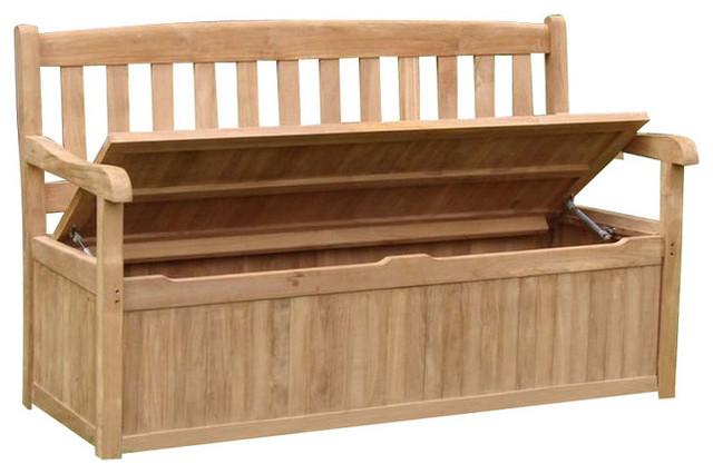 Set Of 2 Devon Outdoor A Grade Teakwood Patio Teak Storage Bench 5 Transitional Deck Boxes And Storage By Teak Deals