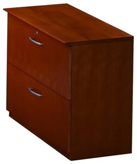 Mayline Corsica Two-Drawer Lateral File, 36 W X 19 D X 29.5 H, 2 - Contemporary - Filing ...