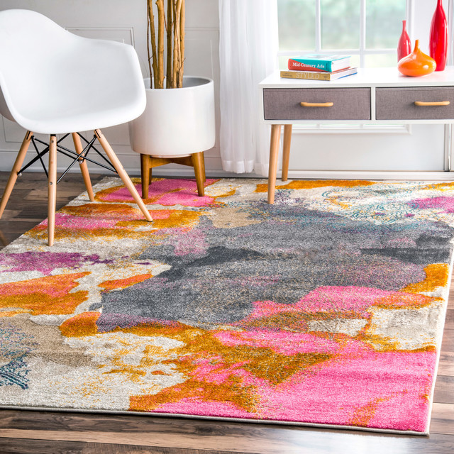725a3c15cb3b9a Abstract Vintage-Style Fancy Rug - Contemporary - Area Rugs - by nuLOOM