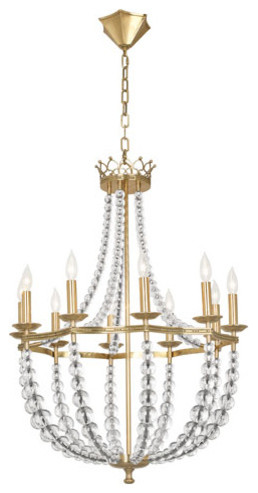 Robert abbey williamsburg coronet chandelier traditional robert abbey williamsburg coronet chandelier gold leaf aloadofball Image collections