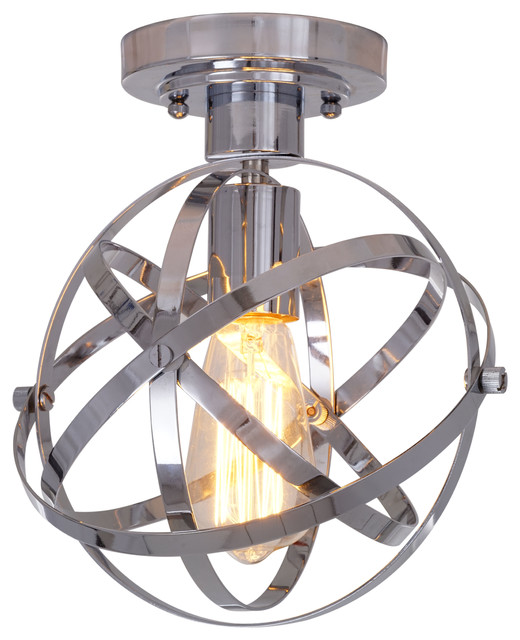 Catalina Lighting 1 Light Colton Semi Flushmount