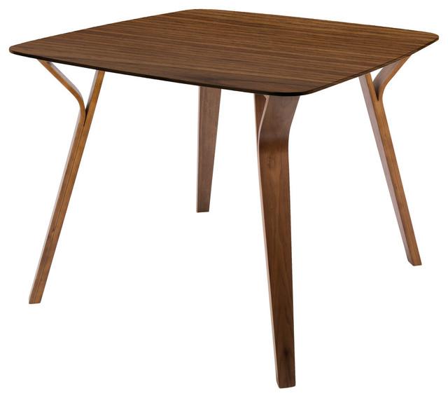 LumiSource Folia Dining Table, Walnut, Walnut