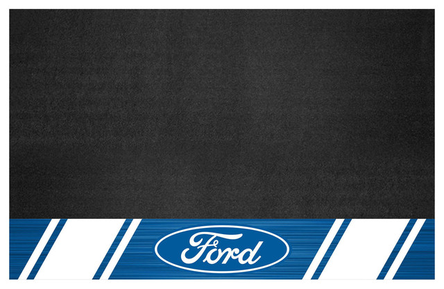 """Ford Oval With Stripes Grill Mat 26""""x42""""."""