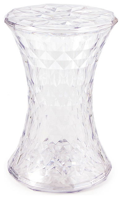 Decorative Acrylic Ghost Stool/Side Table, Crystal Clear Side Tables And
