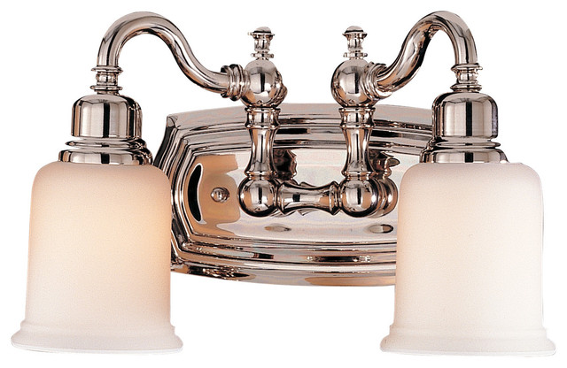 2 Light Vanity Fixture Traditional Bathroom Vanity