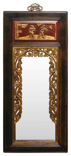 China Furniture And Arts Elmwood Antique Panel Mirror