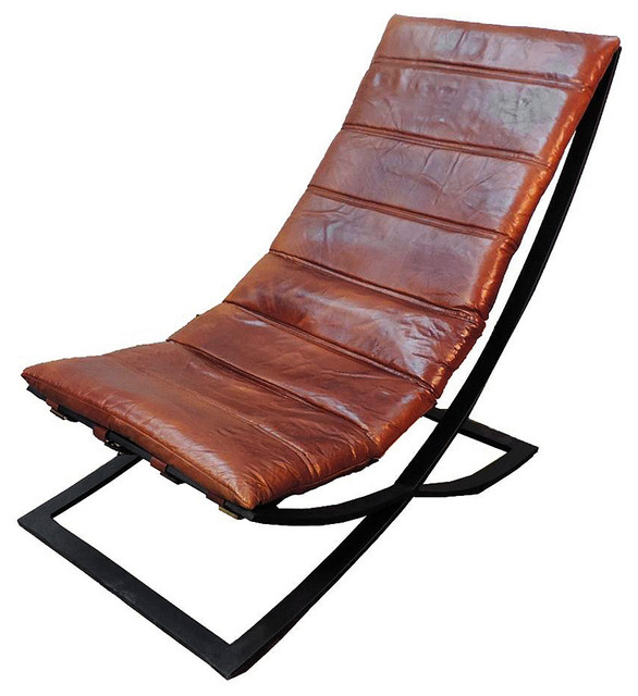 Spanish Style Genuine Leather Bridle Chair, Oil Tanned.