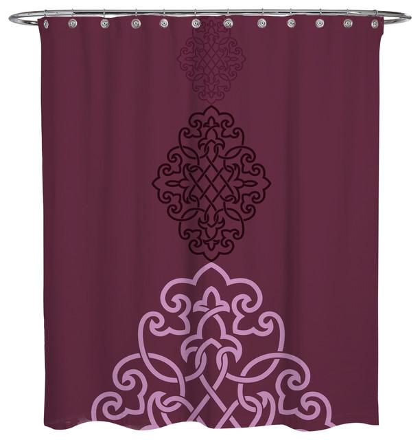 Shower Curtain Arabian Crest 3 Mediterranean Shower Curtains