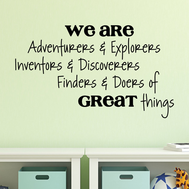 adventurers & explorers kids playroom wall quotes decal