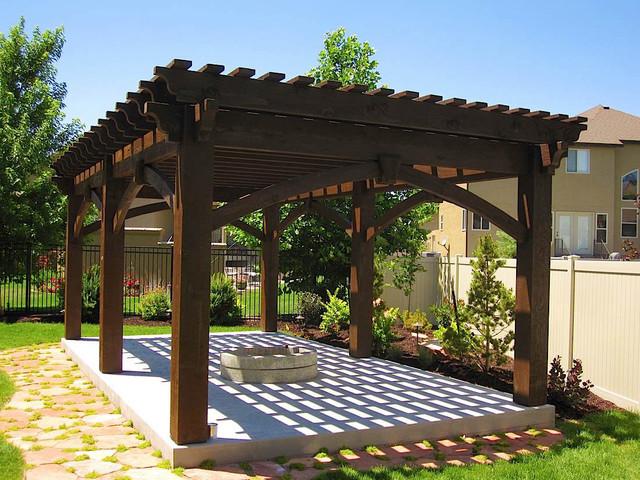 Extra large over sized timber frame pergola kit install for Large gazebo kits