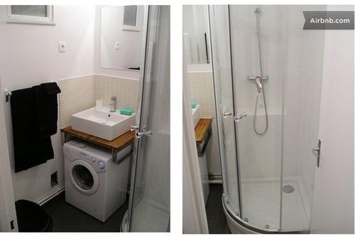 Elegant Sink Over Washing Machine
